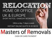 UK & EUROPE LOW COST REMOVALS, MAN & VAN, FOREST ROW, HORSHAM, HORLEY, CATERHAM INSTANT ONLINE QUOTE
