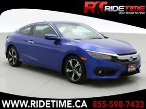 2016 Honda Civic Touring Coupe - Heated Seats, Sunroof, Backup C