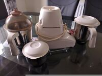Indian Food Mixer with 3 jars in good condition for sale