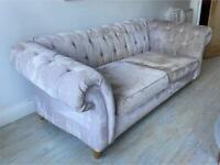 Grey Sofa - NEXT - 2 seater Chesterfield - £450