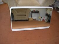 Large dressing table mirror with white surround. Good condition. £10