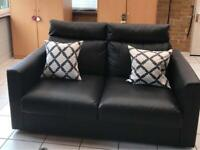 VIMLE > IKEA Sofa (Black faux leather) + headrests ''for a fourth of the price''
