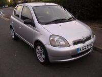 TOYOTA YARIS CDX, AUTOMATIC, 5 DOOR, 2002 REG,EXCELLENT ON DRIVE