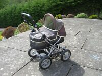 Silver Cross Pistachio 'Ranger' toy dolls pram