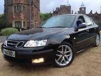 LOOK 2008 SAAB 9-3 1.9 TID VECTOR SPORT BLACK HPI CLEAR SERVICE HISTORY NOT GOLF ASTRA FOCUS AURIS