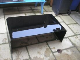 large black glass coffe table