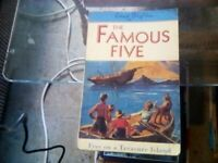 The Famous Five by Enid Blyton - Five on a treasure Island. Book.
