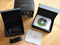 Boxed Fujifilm X-Pro1 with black leather case in first class condition