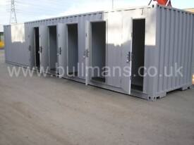 Multi Compartment Shipping container / Self storage container with side personnel doors – 40ft