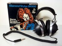Micro-Diamond SK-900D Vintage Stereo Dynamic Headphones,Made in Japan