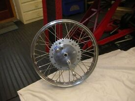 Rickman Mettise rear wheel and hub complete.