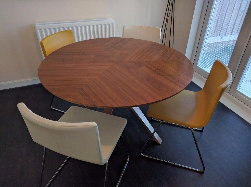 John Lewis Radar 6 Seater Round Dining Table In Walnut