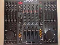 Allen & Heath Xone 4d DJ mixer with decksaver, mint condition with original box