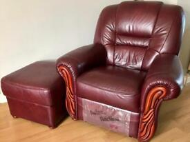 3 & 2 seater sofa. Electric recliner & footstool