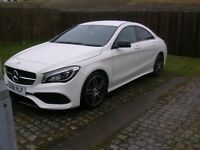 MERCEDES BENZ,CLA180 AMG LINE 4 DOOR COUPE,COLOR CIRRUS WHITE, NOW 18,500 FOR A QUICK SALE.