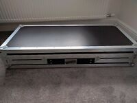 Coffin style flight case for 2x CDJ-1000 & DJM-600/800 or equivalent sized units