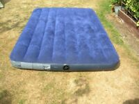 Quality Double Mattress Airbed Camping 2 Person Bed Waterproof INTEX 68758 (USED AND UNMARKED)
