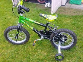 "Boys 14"" Raleigh bike"