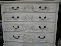 shabby chic ornate chest of drawers