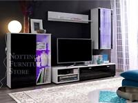 4 piece living room display unit cabinets