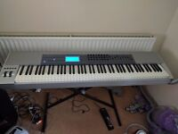 M Audio Keystation PRO 88 Full size keyboard, complete with Sustain pedal and Carry case