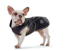 Brand New Hunter Uppsala Softshell Dog Coat, 30cm, Black, Fleece Liner, Reflective Piping, £8
