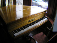 Baby Grand Piano (1.36mx1.36m approx)