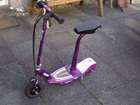 Razor E100s Purple Electric Scooter