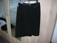Genuine Versace designer black fine wool skirt size 10