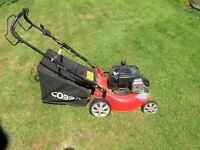 Cobra lawn mower, 400mm cut, Briggs 450E engine, 125cc. Self propelled.