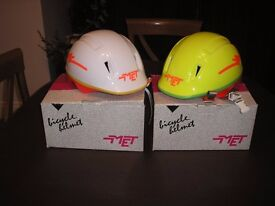 Child's cycle helmets still in boxes