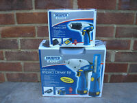 Draper 10.8 volt Impact Driver & Torch with FREE Rotary Drill, NEW.