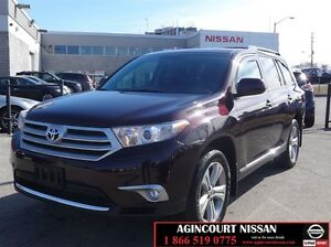 2013 Toyota Highlander V6 |AWD|Leather|Sunroof| 1 Owner|