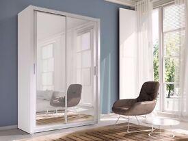 Free & Fast Delivery *** New Berlin Full Mirror 2 Door Sliding Door Wardrobe High Quality