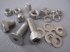 STAINLESS STEEL NUTS,BOLTS SCREWS & FASTENERS IN METRIC UNC AND UNF FOR CAR , BOAT RESTORERS & DIY