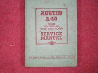Austin A40 Devon Workshop Manual - By Austin Motor Co