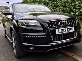 Audi Q7 TDI Sline Quattro 5dr 7 seats leather