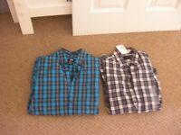2 x Extra Small Checked Mens/Large Boys Shirts