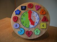 ELC Wooden Teaching Clock
