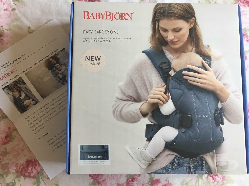 37a36fee4eb Baby Bjorn One Carrier in classic denim midnight blue 2018 new version