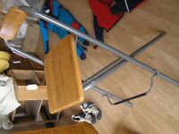 high stool /'bar stool' was from IKEA. Folds flat