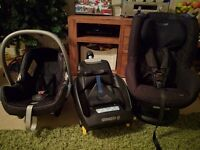 Maxi Cosi Cabriofix & Tobi Car Seat with Isofix (for infant seat only)
