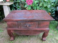 Rustic Naive Occasional or coffee Table with Drawer.