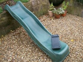 Kids Slide, Wavy Green & Swing Seat. Used. £40.00