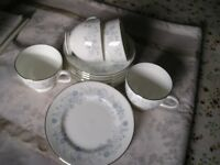 cups saucers and tea plates
