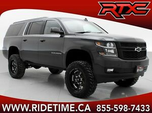 Lifted 2016 Chevrolet Suburban 4WD - Leather, NAV, Dual DVD
