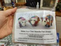 Needle felt sheep kit
