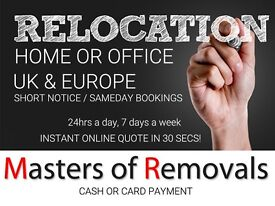 UK & EUROPE LOW COST REMOVALS, MAN & VAN, ESHER, EGHAM, FARNHAM, GUILDFORD, INSTANT ONLINE QUOTE