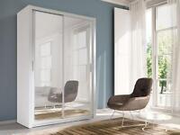 Brand New CHELSEA 2 DOOR GERMAN SLIDING Wardrobe with Mirror