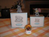 Me to You teddies and Me to You snow globe. All immaculate condition. £5 each